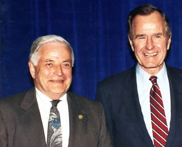 Robins H. Jackson and President Bush